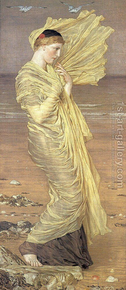 Sea-Gulls by Albert Joseph Moore - Reproduction Oil Painting