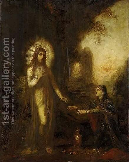 Christ and Mary Magdalene by Gustave Moreau - Reproduction Oil Painting