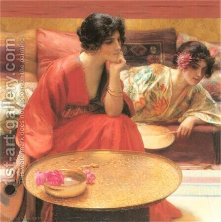 Idle Hours I by Henry Siddons Mowbray - Reproduction Oil Painting