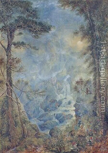 The Fairy Falls by Hume Nisbet - Reproduction Oil Painting