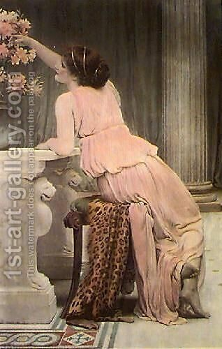 Flower Worship by Charles E. Perugini - Reproduction Oil Painting