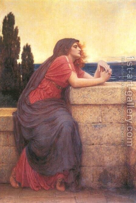 Hero (Iseult) by Charles E. Perugini - Reproduction Oil Painting