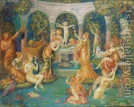The Bath of Youthfulness by Armand Point - Reproduction Oil Painting