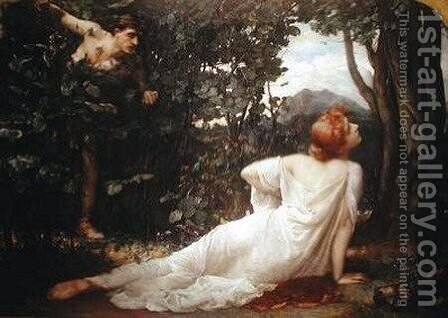 The Death of Procris by Henrietta Rae (Mrs. Ernest Normand) - Reproduction Oil Painting
