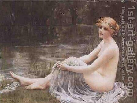 Water Nymph by Mary F Raphael - Reproduction Oil Painting