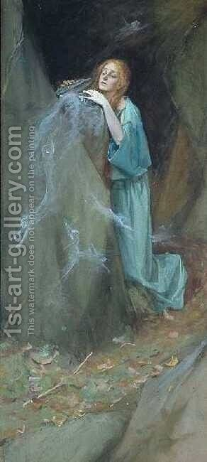 Study for Pandora by Henry Meynell Rheam - Reproduction Oil Painting