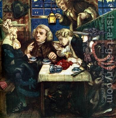 Dr Johnson at the Mitre by Dante Gabriel Rossetti - Reproduction Oil Painting