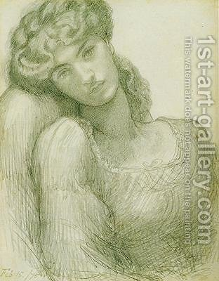 Jane Morris I 2 by Dante Gabriel Rossetti - Reproduction Oil Painting