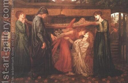 The Merciless Lady by Dante Gabriel Rossetti - Reproduction Oil Painting
