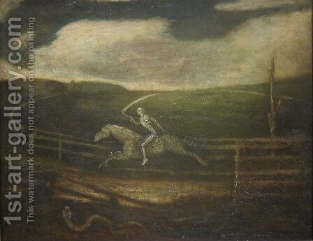The Race Track by Albert Pinkham Ryder - Reproduction Oil Painting