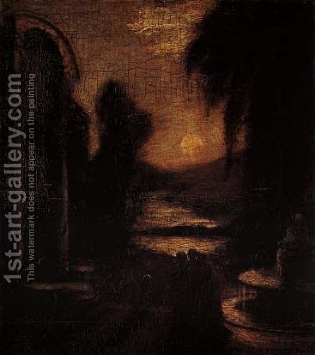 The Temple of the Mind by Albert Pinkham Ryder - Reproduction Oil Painting