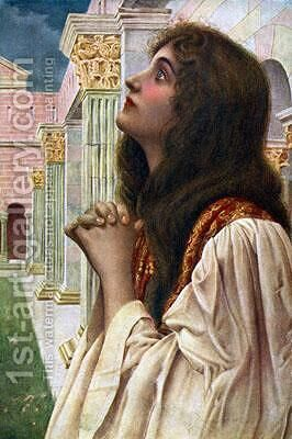 Devotion by Henry Ryland - Reproduction Oil Painting