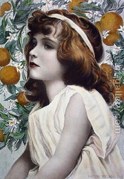 Florimel by Henry Ryland - Reproduction Oil Painting