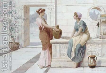 Gossip by Henry Ryland - Reproduction Oil Painting