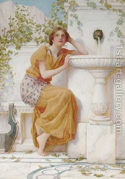 The Music of the Fountain by Henry Ryland - Reproduction Oil Painting