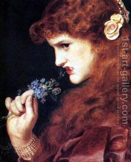 Love's Shadow I by Anthony Frederick Sandys - Reproduction Oil Painting