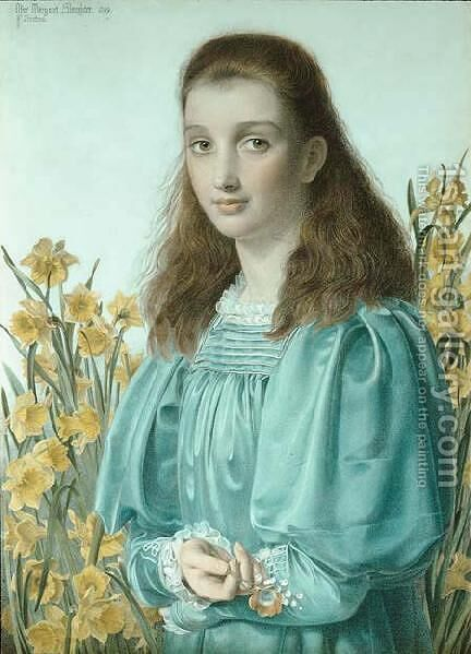 Olive Margaret Slaughter by Anthony Frederick Sandys - Reproduction Oil Painting