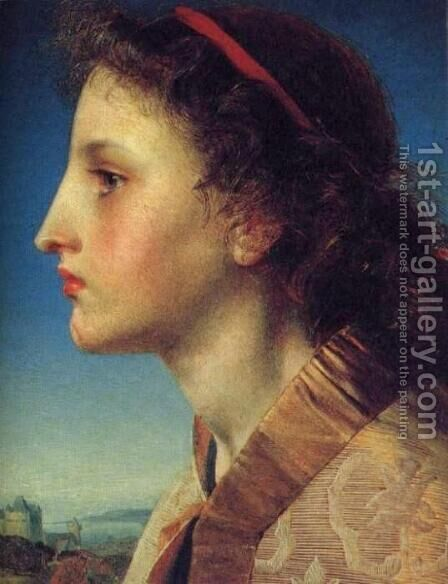 Oriana by Anthony Frederick Sandys - Reproduction Oil Painting