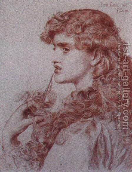 Proud Maisie by Anthony Frederick Sandys - Reproduction Oil Painting