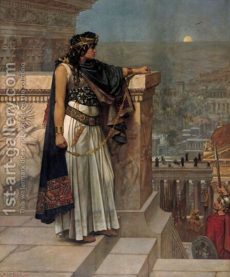 Queen Zenobia's Last Look upon Palmyra by Herbert Gustav Schmalz - Reproduction Oil Painting