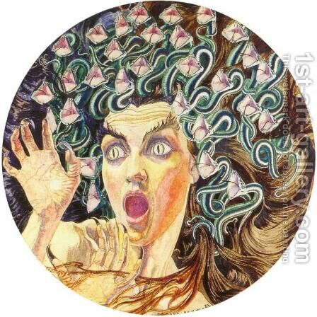 Medusa by Carlos Schwabe - Reproduction Oil Painting