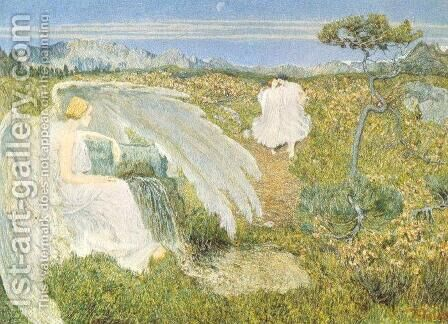 The Fountain of Youth by Giovanni Segantini - Reproduction Oil Painting