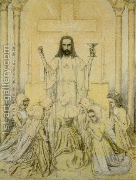 Christus Eucharisticus by Jan Toorop - Reproduction Oil Painting