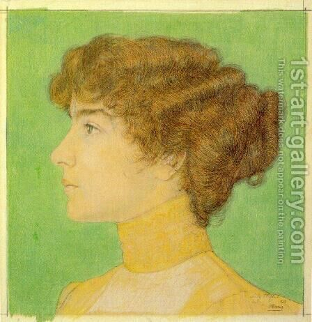 Lily Clifford by Jan Toorop - Reproduction Oil Painting