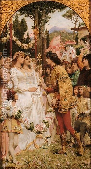 The May Ball, Florence by Jacques-Clement Wagrez - Reproduction Oil Painting
