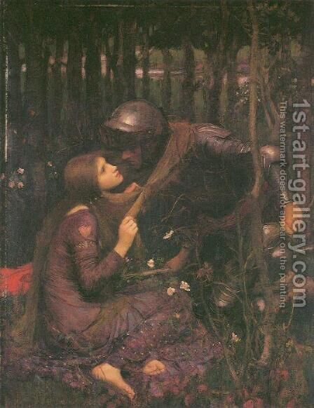 La Belle Dame Sans Merci by Waterhouse - Reproduction Oil Painting