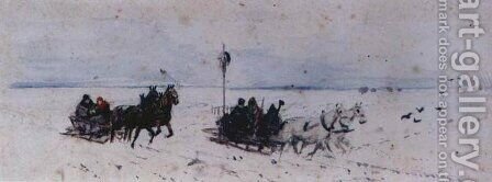 Sledging to Czarnokozinice by Adam Chmielowski - Reproduction Oil Painting