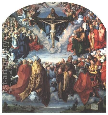 Adoration of the Trinity I by Albrecht Durer - Reproduction Oil Painting
