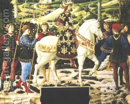 Journey of the Magi 2 by Benozzo di Lese di Sandro Gozzoli - Reproduction Oil Painting