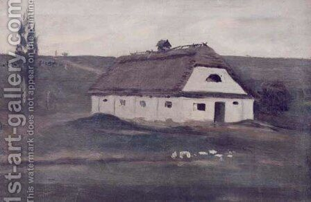 Byre by Adam Chmielowski - Reproduction Oil Painting
