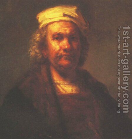 Self-Portrait by Harmenszoon van Rijn Rembrandt - Reproduction Oil Painting
