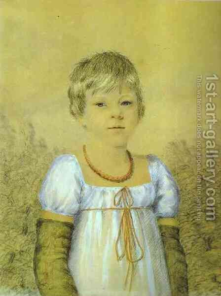 Portrait of a Girl by Aleksander Orlowski - Reproduction Oil Painting