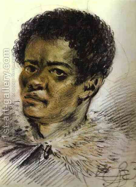 Portrait of a Negro, Orlowski's Servant by Aleksander Orlowski - Reproduction Oil Painting