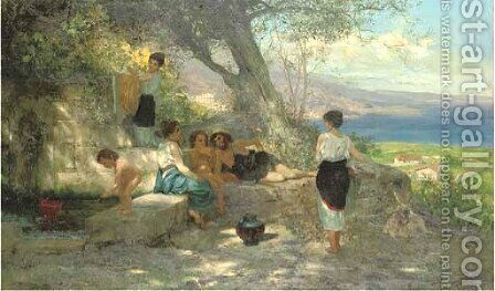 Arcadian Afternoon by Henryk Hector Siemiradzki - Reproduction Oil Painting