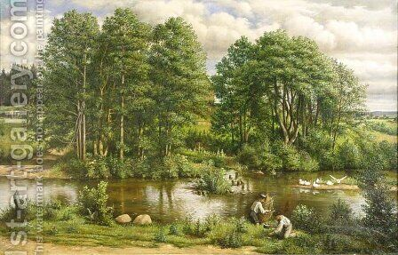 Landscape from the Area of Riga by Edward Ignacy Jan Lepszy - Reproduction Oil Painting