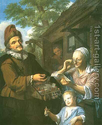 Travelling Seller by Christoffel Lubieniecki - Reproduction Oil Painting