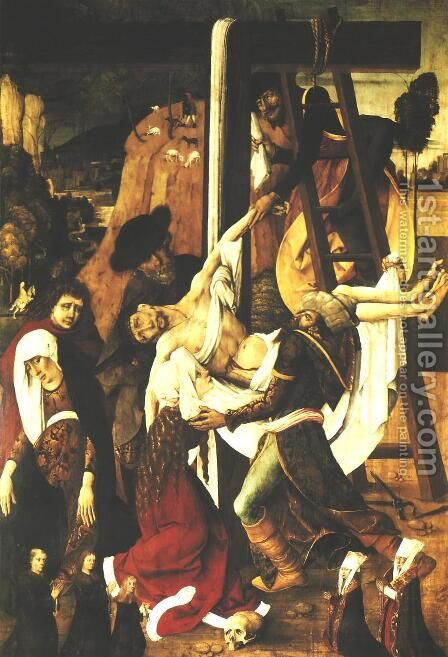 Deposition from the Cross I by - Unknown Painter - Reproduction Oil Painting