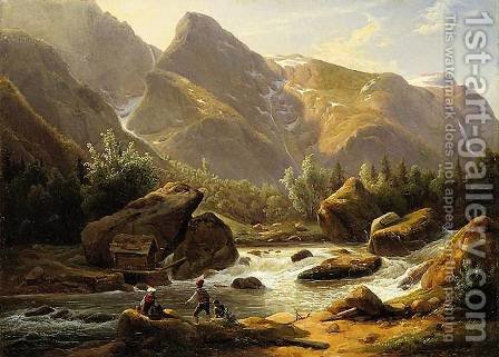 Landscape from Norway by Christian Breslauer - Reproduction Oil Painting