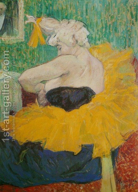 Lady Clown Cha-U-Kao by Toulouse-Lautrec - Reproduction Oil Painting