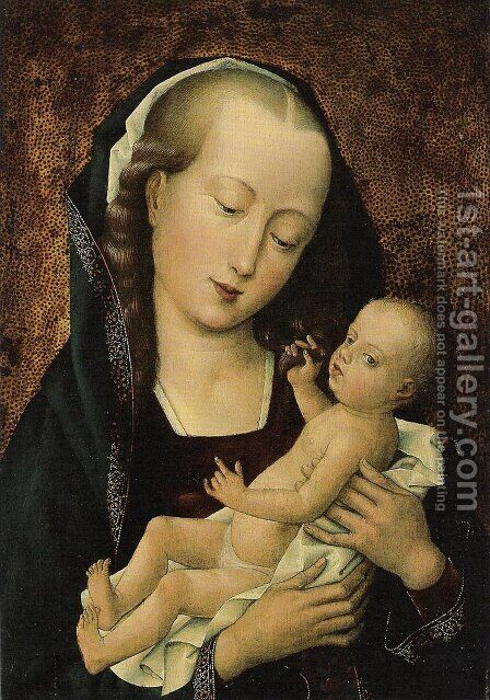 Madonna with Child by Dieric the Elder Bouts - Reproduction Oil Painting