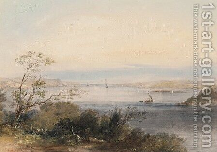View of the Sydney Heads from Point Piper by Conrad Martens - Reproduction Oil Painting