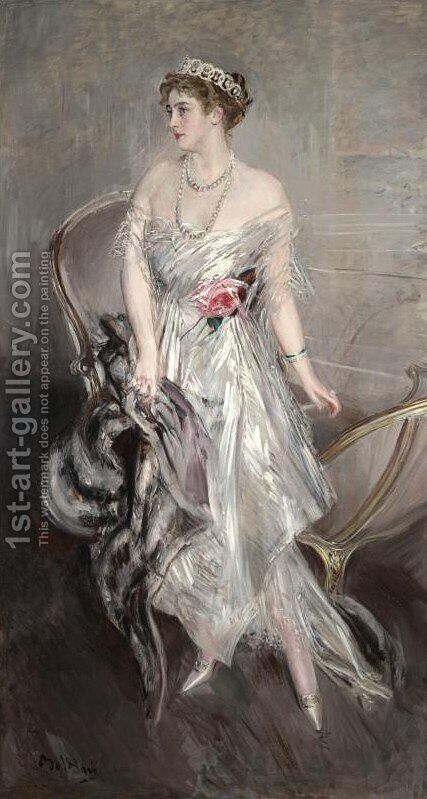 Princess Anastasia of Greece (Mrs Leeds) by Giovanni Boldini - Reproduction Oil Painting
