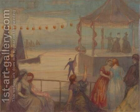 Un soir d'ete by Charles Conder - Reproduction Oil Painting