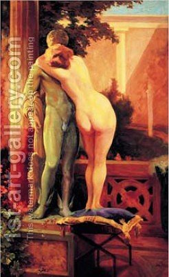 Hermes and Aphrodite by Jan Styka - Reproduction Oil Painting