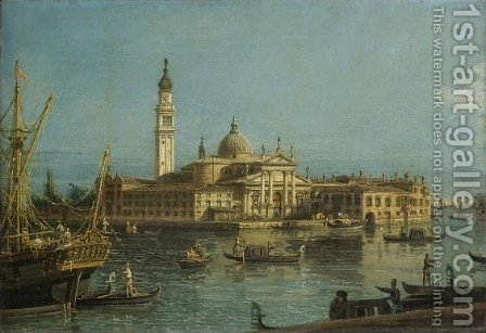 Venice, a View of the Church of San Giorgio Maggiore by Bernardo Bellotto (Canaletto) - Reproduction Oil Painting