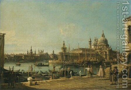 Venice, a View of the Entrance to the Grand Canal with the Church of Santa Maria della Salute by Bernardo Bellotto (Canaletto) - Reproduction Oil Painting